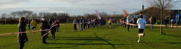 The finish line of the Andy Reading 10k