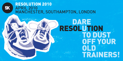 Promotional banner for The Stroke Association's Resolution 5k runs