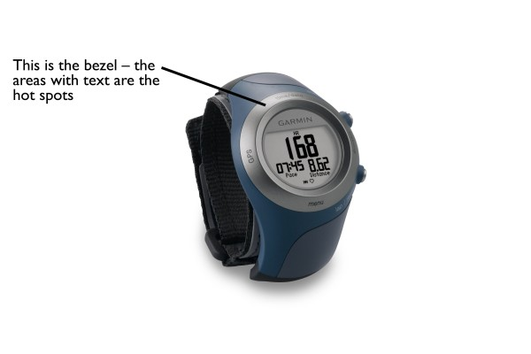 Stock image of the Garmin Forerunner 405CX