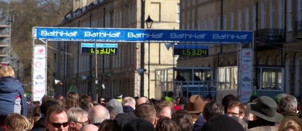 The finish line of the 2010 Bath Half Marathon