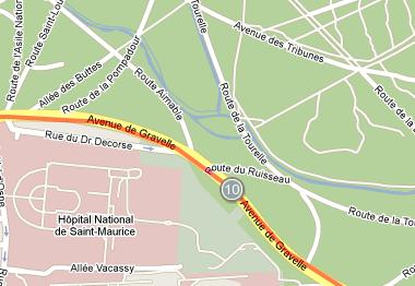 Mile 10 of the Paris Marathon 2010