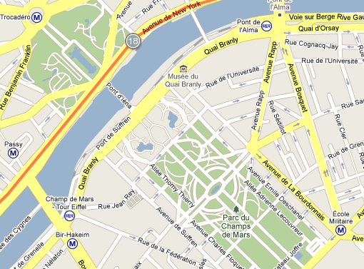 Mile 18 of the Paris Marathon