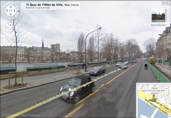 Mile 15 of the Paris Marathon 2010