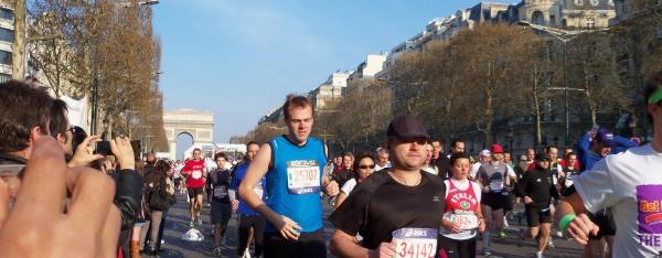 The start of the Paris Marathon 2010