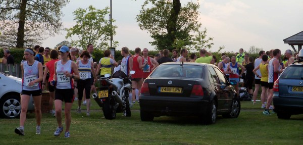 The finishing funnel of the Charndon 5k