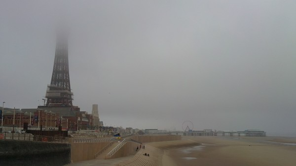 Blackpool on a miserable June day