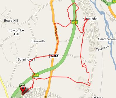 Actual route ran