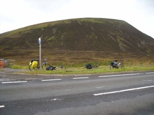 Abandoned bikes at the highest point of the National Cycle Network
