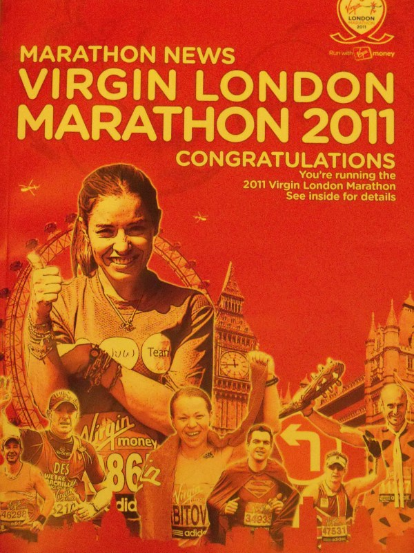 The 'Congratulations' magazine for the 2011 Virgin London Marathon