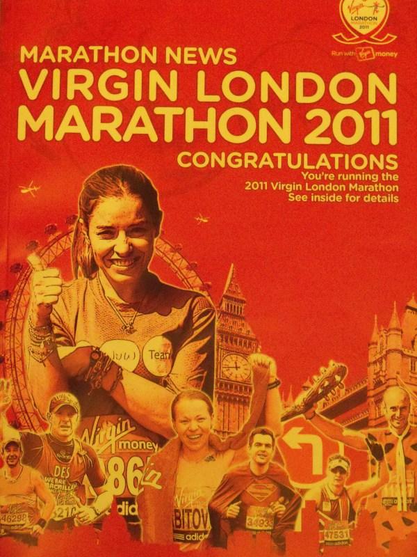 The 'Congratulations' magazine for the 2011 Virgin London Marathon