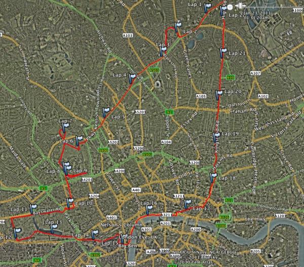 Virgin London Marathon training run