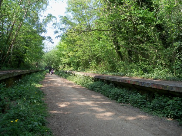 An abandoned station on the path up to Highgate