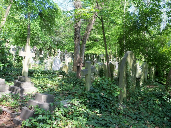 The cemetery in Highgate is well-known and a bit overgrown