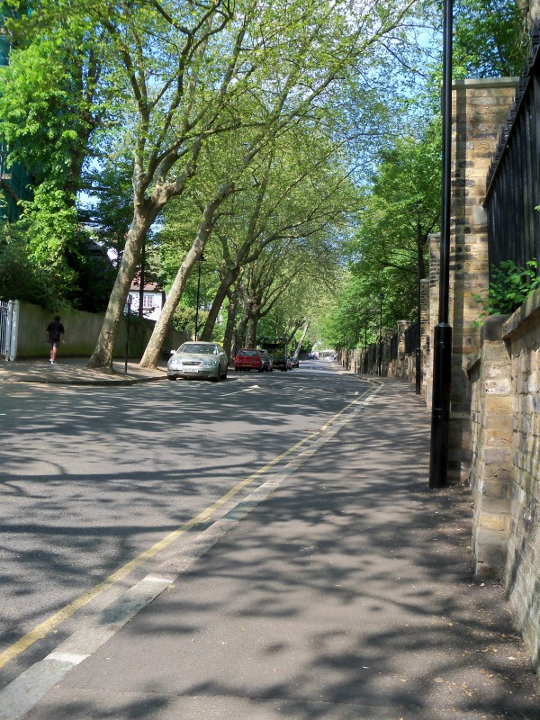 The road up to Highgate is steep
