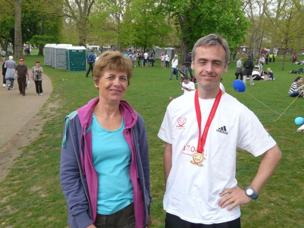 Me and my mum after the race.