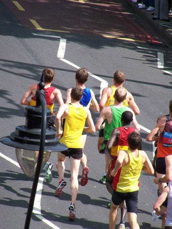 The leading pack of runners in the BUPA 10k