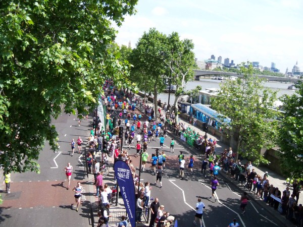 The Embankment section of the BUPA London 10k