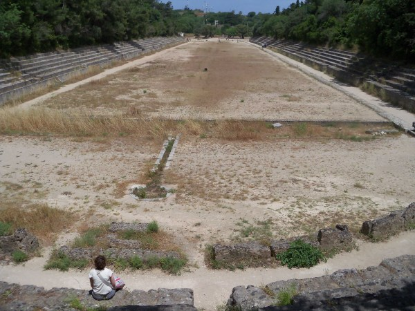 The athletics track from 2nd century BC