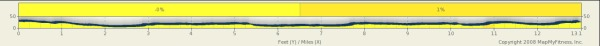 Elevation on the Southend Half-marathon - basically there are no hills