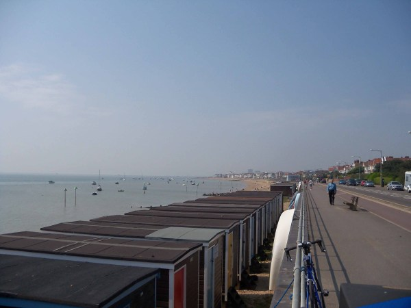 The Southend seafront on a clear day - very, very flat