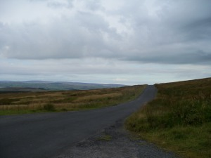 The view from the summit of the  hill out of Settle