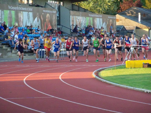 Runners starting their mile race at the Iffley Road track