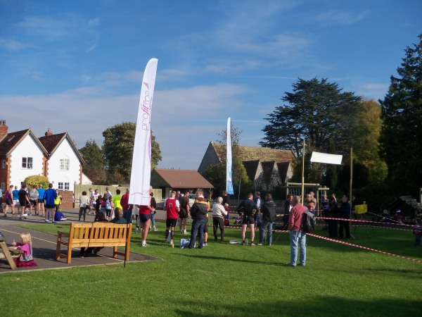 The finish line of the Frieth Hilly 10k