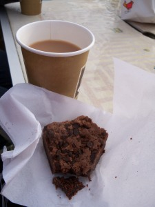 Cake and tea at the end of the Frieth Hilly 10k