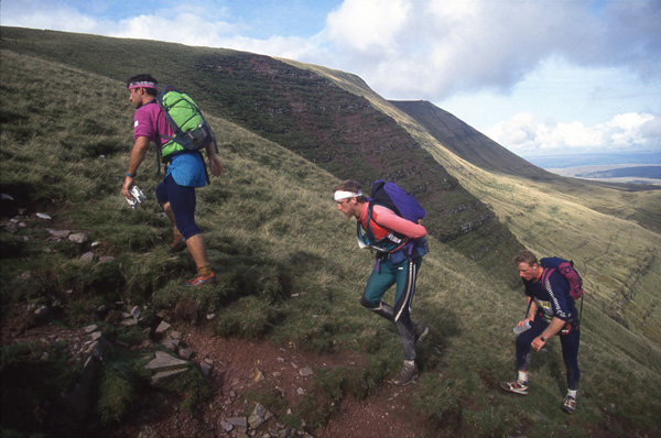 Joe Faulkner, Rune Larsson and Steve Dubienec (from left to right). Day 5 - The Black Mountains in South Wales