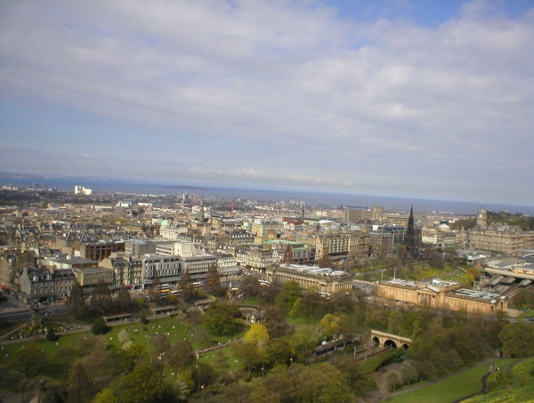 Edinburgh seen from Edinburgh Castle
