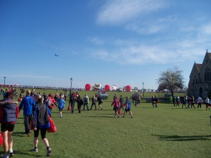Balloons at the start of the VLM