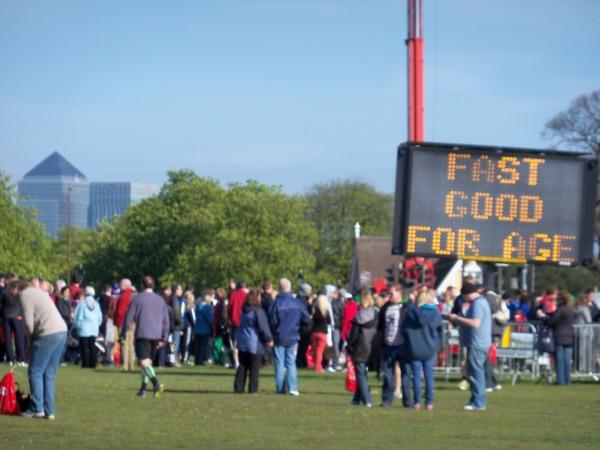 The red start for the Virgin London Marathon