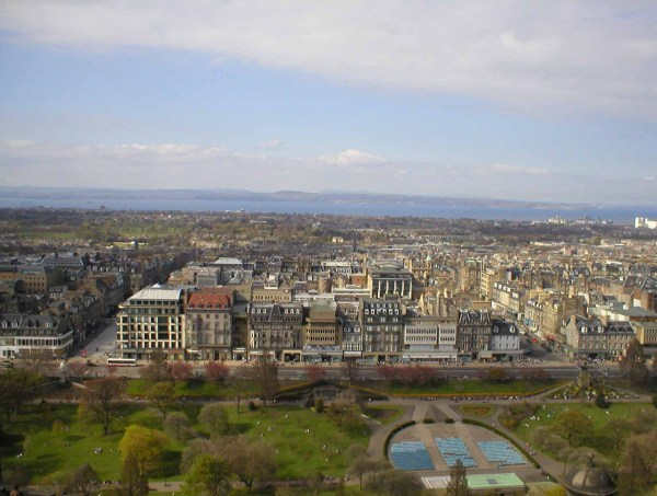 The view across Edinburgh