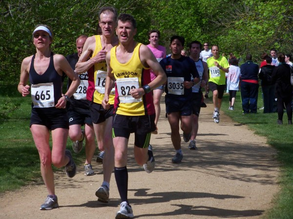 Runners on the final stretch of the 2012 Oxford Town and Gown
