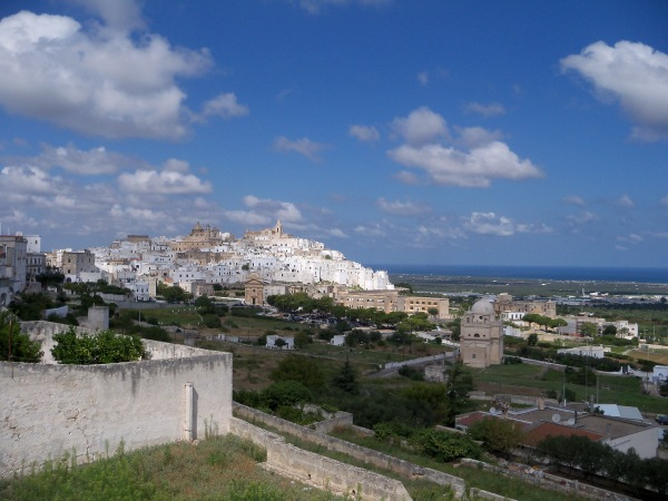 The city of Ostuni in southern Italy
