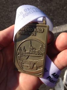 Oxford Half-marathon medal