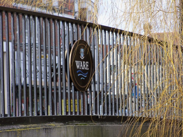 The town sign for Ware