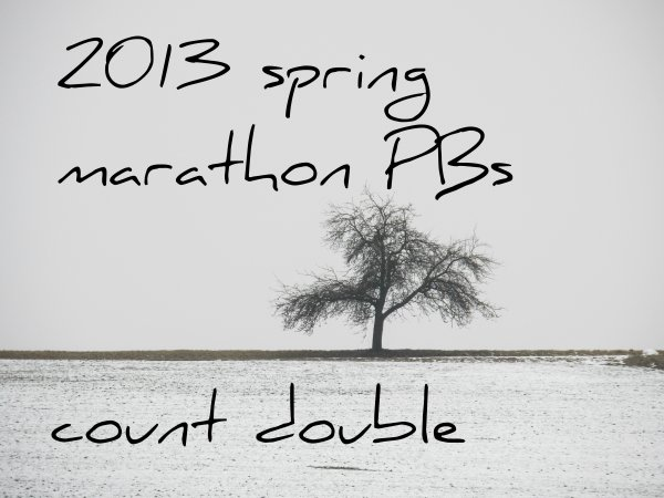 2013 spring marathon PBs count double