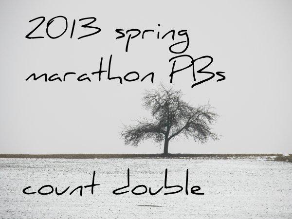 2013 spring marathon PBs count double