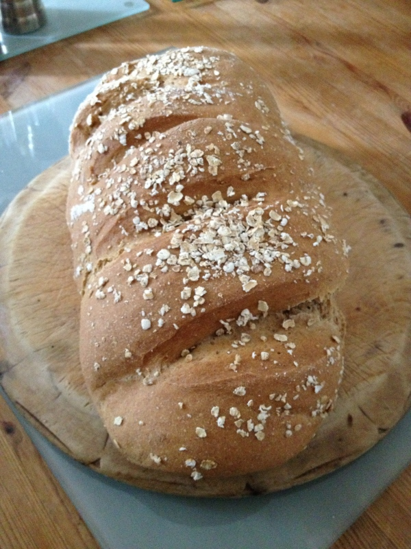 A fairly standard spelt and wholemeal bloomer
