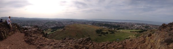 The view from the top of Arthur's Seat in Edinburgh