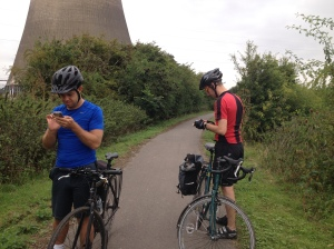 Admiring the cooling towers
